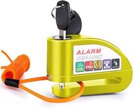 Vinz Elbroes Alarm Schijfremslot 6mm - Geel