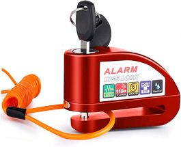 Vinz Elbroes Alarm Schijfremslot 6mm - Rood