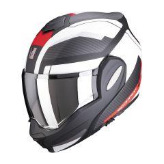 Scorpion Exo-Tech Trap Flip-up helm - Mat Zwart / Rood / Wit