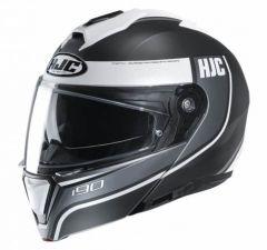 HJC I90 Davan - Mat Zwart / Antraciet / Wit