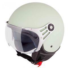 Vinz Stelvio mat mint groen jethelm fashionhelm scooterhelm motorhelm vooraanzicht