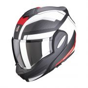 Scorpion Exo-Tech Trap Flip-up helm - Mat Zwart / Rood / Wit