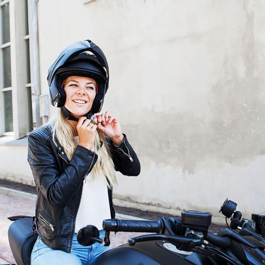 Flip-up helmen